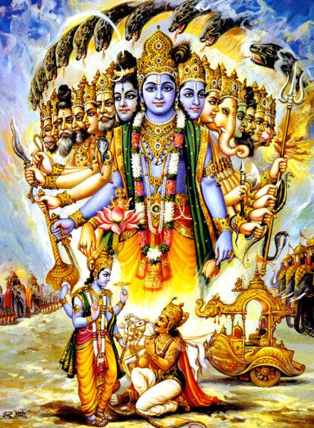 Кришна объясняет Арджуне суть йоги.