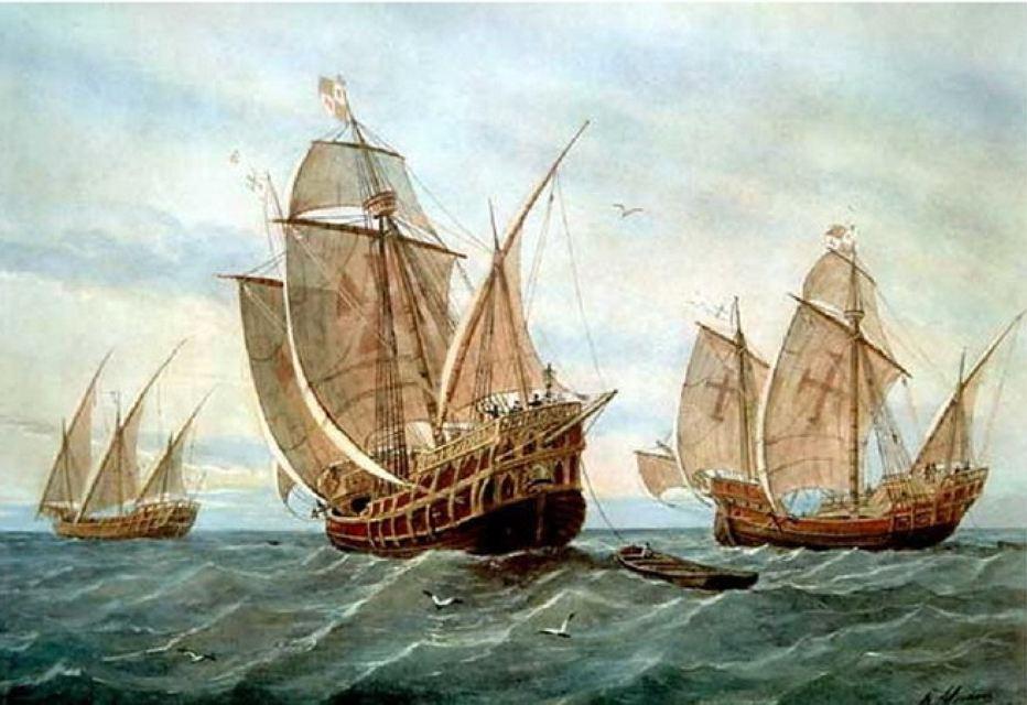 Когда корабли Колумба подплывали к берегам Америки и уже были хорошо видны с берега, индейцы их не видели.